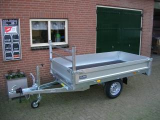 SARIS PS Compact 140x-255x135 1400kg Plateauwagen optie koprek
